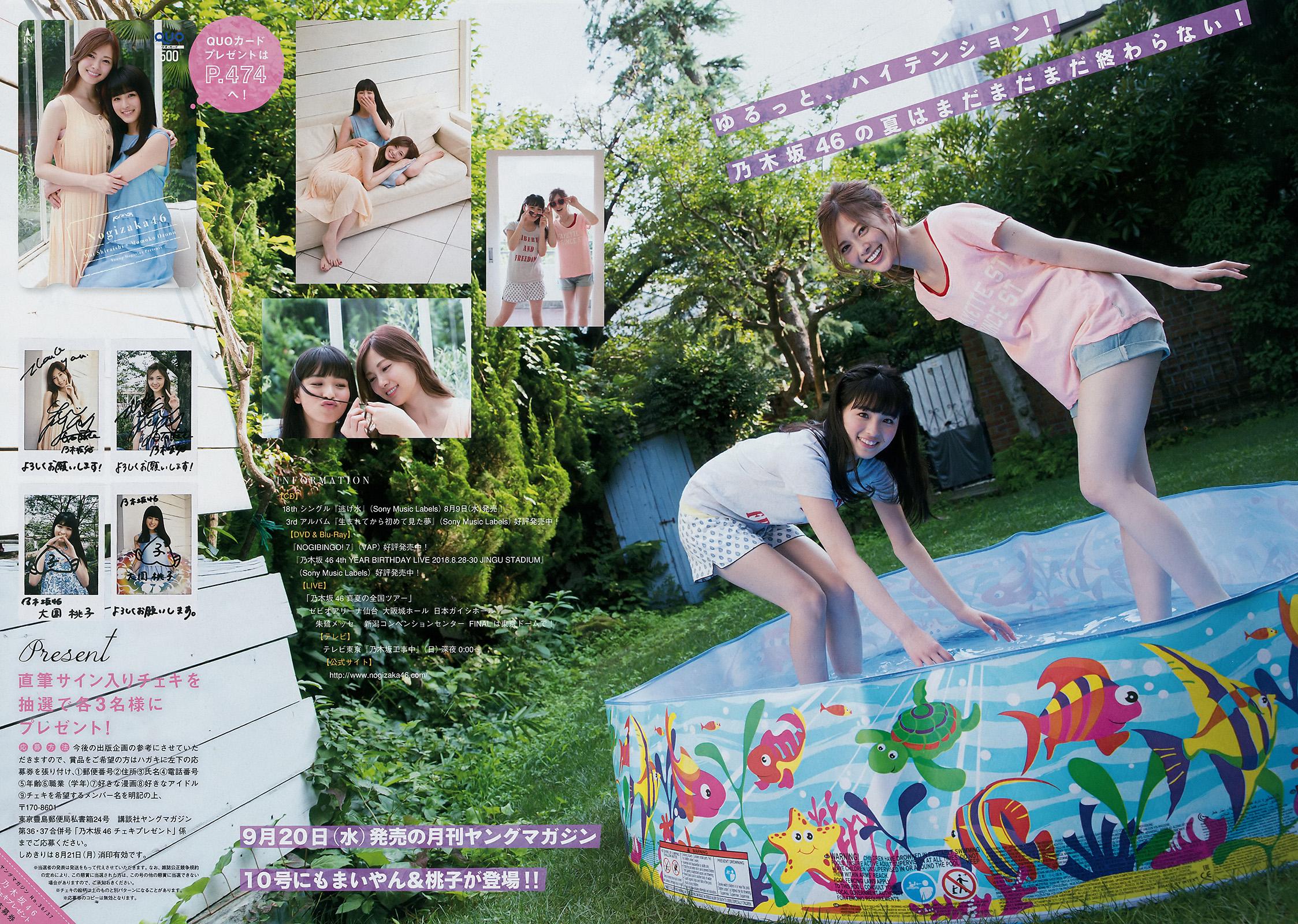 [Young Magazine] 2017 No.36-37 Mai Shiraishi  Momoko Ozono  HKT48 (白石麻衣 大園桃子 HKT48)